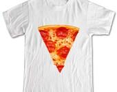 PEPPERONI PIZZA SLICE Fast Food T-shirt Women Men Children Small, Medium, Large, X-Large