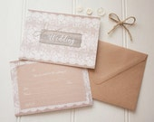 Rustic Lace wedding invitation pack x 10