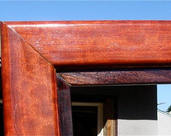 "solid exotic woods art frame bubinga,lacewood,koa 47"" x 62"""