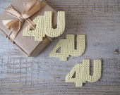 For you personal Christmas Gift tag in knitting texture For decorating gift packaging 4U