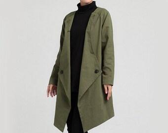 Woman Coat Long Coat Wind Coat Sloth Jacket Winter Coats