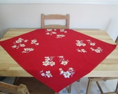 Deep Red Dogwood Tablecloth