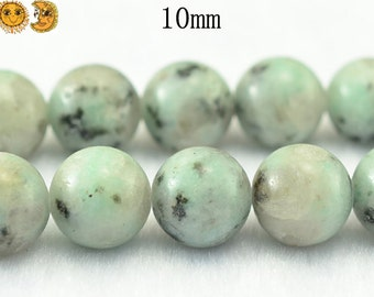 15 inch strand of Kiwi jasper smooth round beads 6mm 8mm 10mm 12mm 14mm for choose