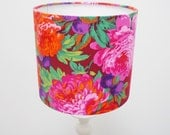Flower Lamp Shade Medium Lampshade Home Floral Lampshade Medium Fabric Lampshade