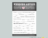 Wedding Advice Card - Chalkboard Mad Libs