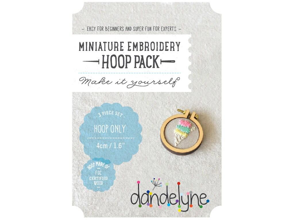 Mm miniature embroidery hoop frame kit