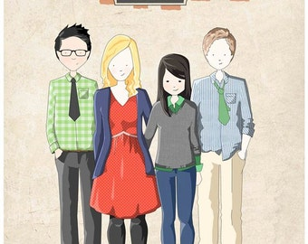Customised family portrait