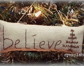 Believe Farmhouse Christmas Ornament