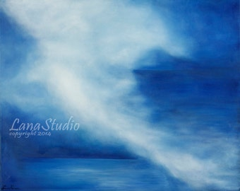 Peaceful Storm -- Large Original Oil Painting on Gallery Wrapped Canvas 24x30.
