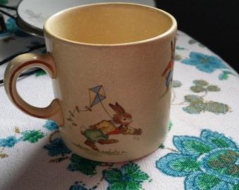 Vintage Bunny's Playtime Mug - Royal Winton - Made in England