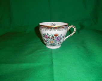 One (1), Bone China, Tea Cup, from Spode China, in the Lowestoft Flowers C 1703 Pattern.