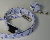 Nautical Sea Horse ID lanyard, badge reel, stethoscope clip