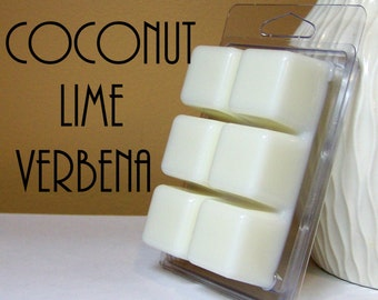 Coconut Lime Verbena Scented Wickless Tarts