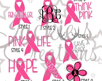 Breast Cancer/Breast Cancer Awareness Decals