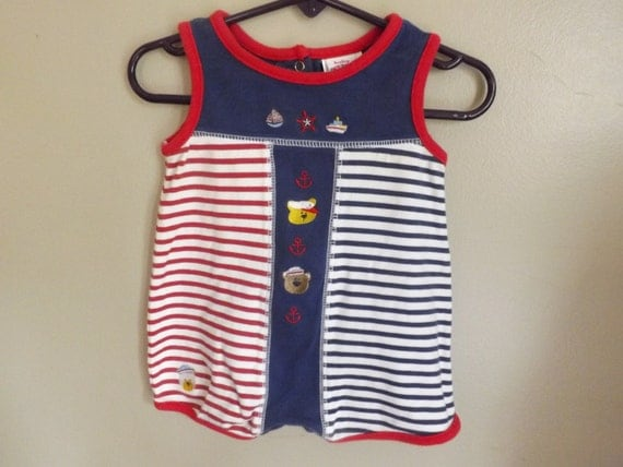 Nautical Sailor Jumper Romper Baby Boy by SeptemberButterfly