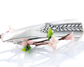 Vintage Spoon Hair Barrette - Romford Silverware Barrette - Silverware Hair Barrette - Spoon Hair Barrette - Silverware Jewelry (mcf H33)