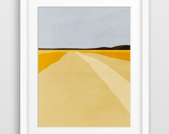 Modern Abstract Art Print, Landscape Wall Art, Minimalist Art, Scandinavian Print, Office Art, Living Room Decor