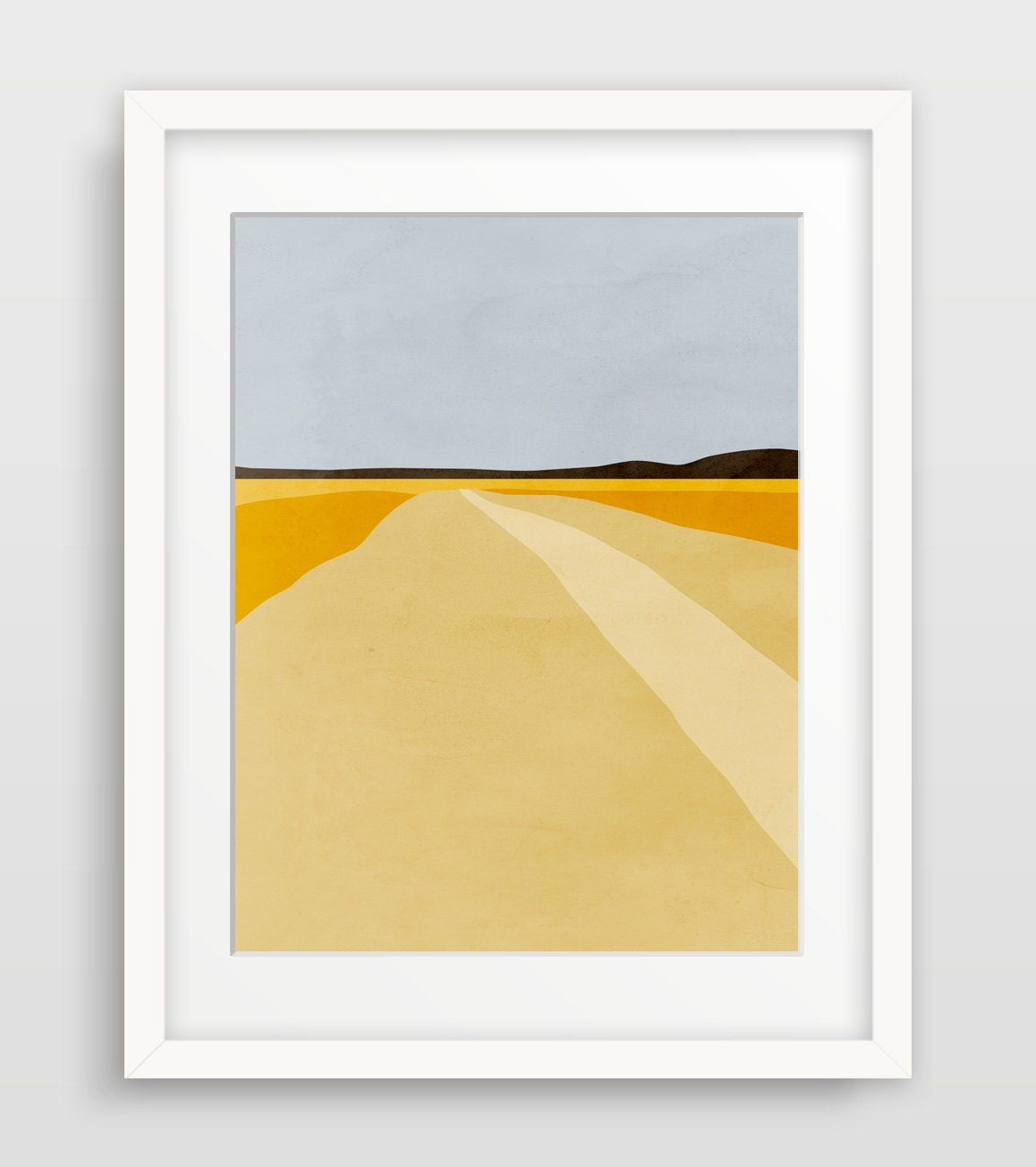 Modern abstract art print landscape wall art minimalist art for Minimalist wall