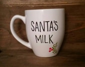 Santa's Milk Mug, milk for Santa mug, Christmas mug, holiday mug, hot chocolate mug, mug for kids, message mug