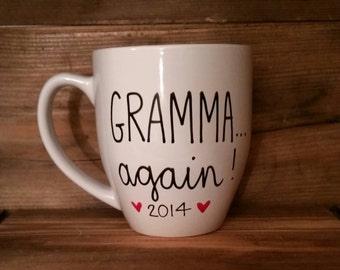 Grandma again mug, Mug for grandma to be, pregnancy announcement mug, grandparents again mug, gift for grandma