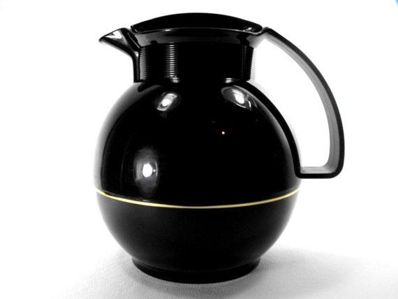 Vintage Black Coffee Carafe 1987 Thermos Modern Rare