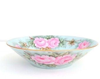 Vintage Artist Signed Bone China Bowl Wedding Gift Inspiration Replacement China
