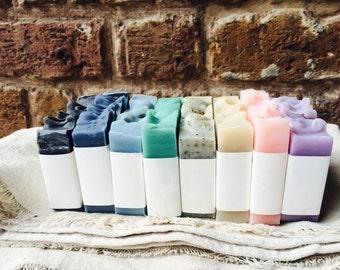 FREE SHIPPING // You Pick 8 Bars  // Gift Set // Natural Bar Soap / Handmade Bar Soap / Cold Process Bar Soap  / Goat's Milk Soap