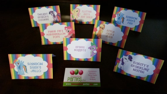 My little pony food tents