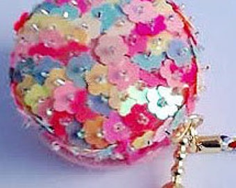 Japanese Felt Fabric Sequin Macaron Case