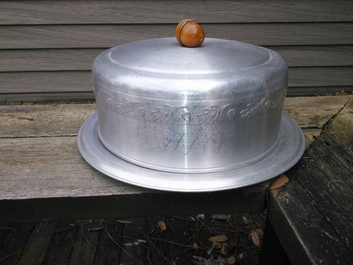 Vintage Aluminum Covered Cake Carrier By West Bend Aluminum