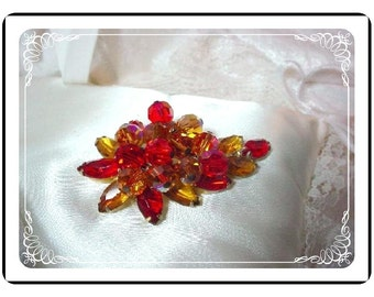 Vintage Juliana Brooch - Must Have Yummy Orange and  Honey  D and E  Juliana  Pin-444a-010107 032