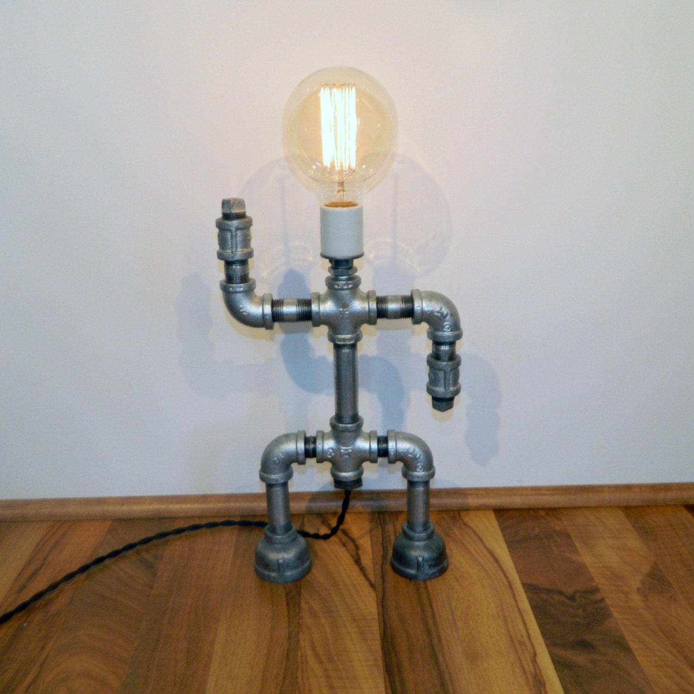 Galvanized iron robot lamp