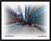 Toronto Dundas Square-LOW COST Downloadable Art Print-Abstract Art Print-Will Look Great At Home Or Office Wall