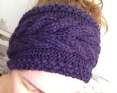 KNITTING PATTERN Cabled Corn Rows Headband Ear Warmer Baby to Adult Sizes Ideal for Beginners Accessory
