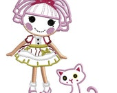 Made to match JeweI SparkIes and cat -  Applique  FILE  - INSTANT DOWNLOAD