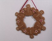 Gingerbread Wreath  | Candle Ring | Christmas Decor