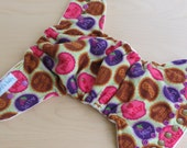 One Size Hybrid Fitted Cloth Diaper - PB and J