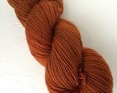 Nutmeg - Hand Dyed Superwash Merino Wool Yarn - fingering weight