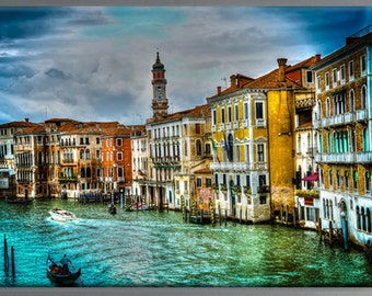 Italy Venice HDR high dynamic canvas photo print art work  32x42 inches NO Frame, just print