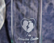24 oz. Purifying Glass Water Bottle, Attractive,  Inspired by the book Hidden Messages In Water