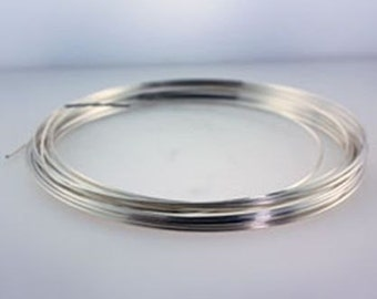 Craft Wire Square Silver Plated 21ga 4yd Spool