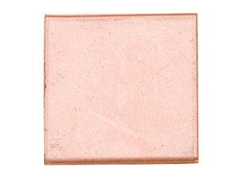 Copper Blanks Square 1 Inch 18ga Pkg Of 6