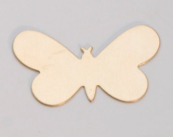 "Brass Blanks Butterfly 1 5/16"" x 3/4"" 24ga Pkg Of 6"