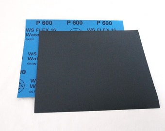 "600 Grit  Wet / Dry Sand Paper  9""x11"" Sheets Package  Of 10"