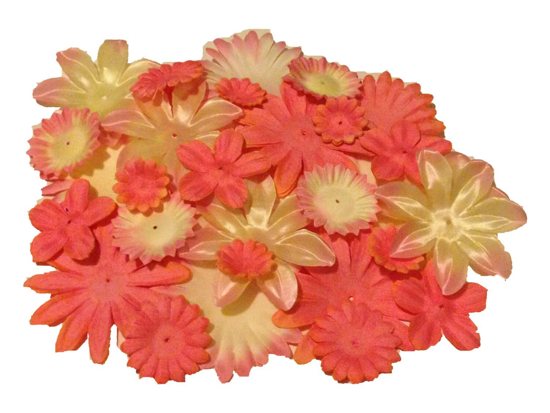 100 Flower Petals Peach Fabric Petals DIY Flowers for hair