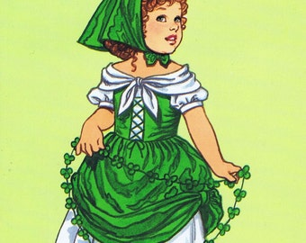 Little Irish Girl Paper Doll Booklet Dover Little Activity Booklet Tom Tierney