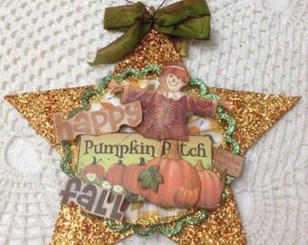 Happy fall star decoration
