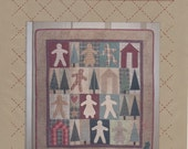 Pattern for Gingerbread Cookie Quilt Wall Hanging