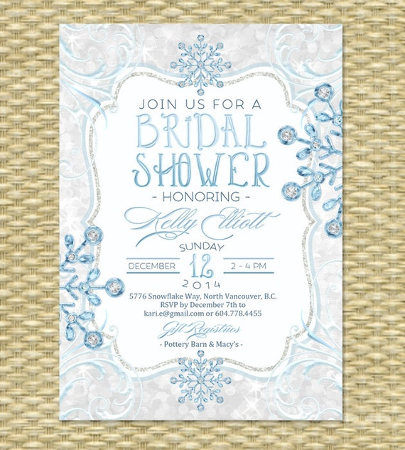 Winter bridal shower invitation baby its cold ice diamonds glitter il570xn filmwisefo
