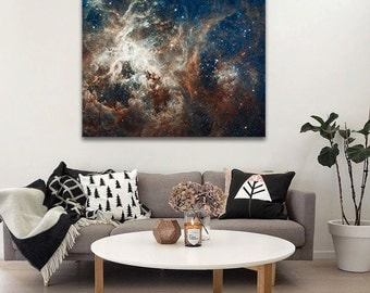 Space art on canvas, Astronomy print. LARGE ready to hang wall decor